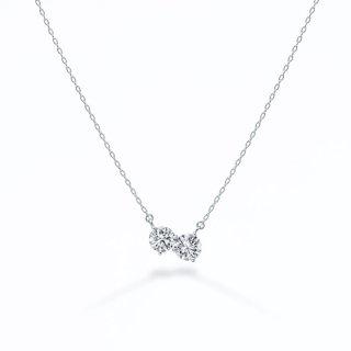 ラボ・グロウン ダイヤモンド<br>ネックレス / プラチナ / 0.20カラット×2