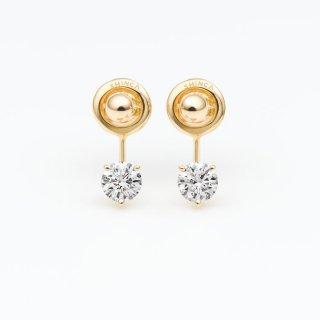 ラボ・グロウン ダイヤモンド<br>ピアス / ゴールド / 0.30カラット×2