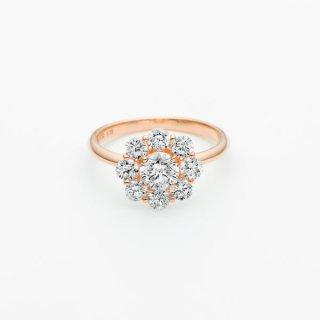 ラボ・グロウン ダイヤモンド<br>リング / ピンクゴールド / 中石 0.50カラット