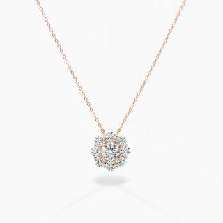 ラボ・グロウン ダイヤモンド<br>ネックレス / ピンクゴールド / 中石 0.50カラット