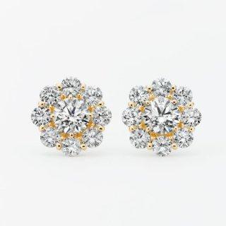 ラボ・グロウン ダイヤモンド<br>ピアス / ゴールド / 中石 0.50カラット×2
