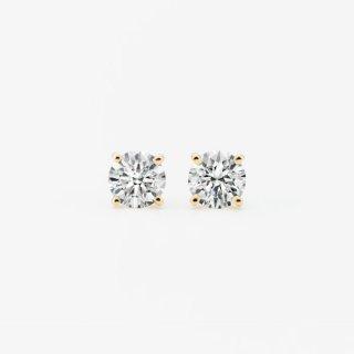 ラボ・グロウン ダイヤモンド<br>ピアス / ゴールド / 0.50カラット×2