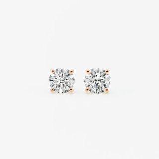 ラボ・グロウン ダイヤモンド<br>ピアス / ピンクゴールド / 0.50カラット×2