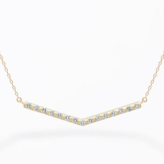 ラボ・グロウン ダイヤモンド<br>ネックレス / ゴールド / total0.20カラット