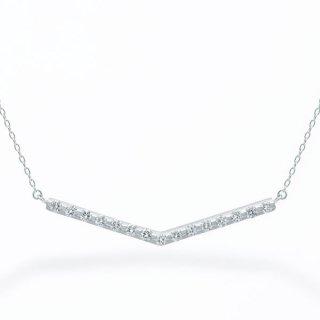 ラボ・グロウン ダイヤモンド<br>ネックレス / プラチナ / total0.20カラット
