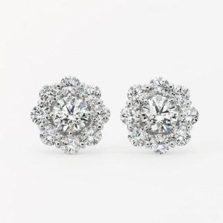 ラボ・グロウン ダイヤモンド<br>ピアス / プラチナ / 中石 0.50カラット×