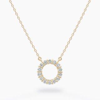 ラボ・グロウン ダイヤモンド<br>ネックレス / ゴールド / total0.18カラット