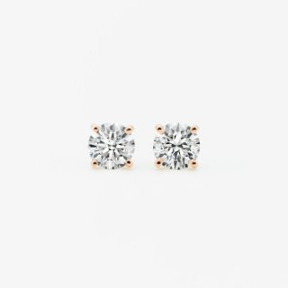 ラボ・グロウン ダイヤモンド<br>ピアス / ピンクゴールド / 0.70カラット×2