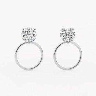 ラボ・グロウン ダイヤモンド<br>ピアス / プラチナ / 0.50カラット×2