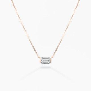 ラボ・グロウン ダイヤモンド<br>ネックレス / ピンクゴールド / 1.00カラット