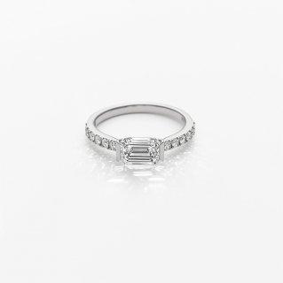 L005 ラボグロウンダイヤモンド/EM/<br>リング / プラチナ/ 1.04カラット