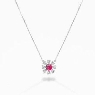 [お問合せ商品]PINKラボ・グロウン ダイヤモンド<br>ペンダント/プラチナ/0.40カラット