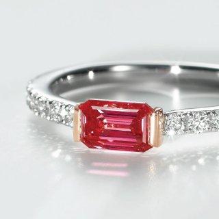 [お問合せ商品]<br>REDラボ・グロウン ダイヤモンド<br>リング/プラチナ&ピンクゴールド<br>0.67カラット