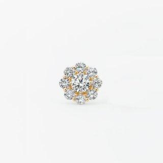 ラボ・グロウン ダイヤモンド<br> シングルピアス / ゴールド / 中石0.50カラット