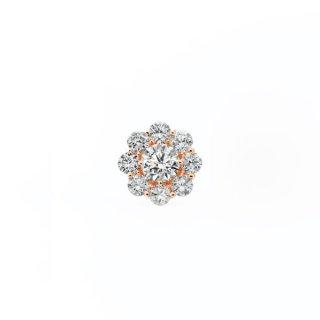ラボ・グロウン ダイヤモンド <br>シングルピアス / ピンクゴールド / 中石0.50カラット