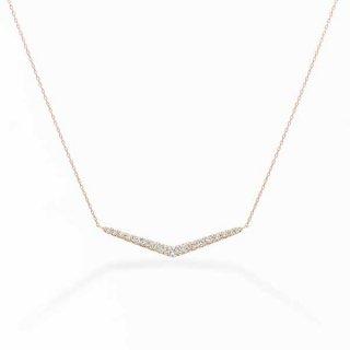 H010 ラボグロウンダイヤモンド<br>ネックレス / ピンクゴールド / total0.45カラット