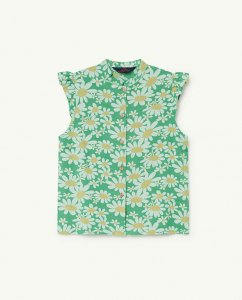 30%OFF/The Animals Observatory KANGAROO KIDS SHIRT GREEN DAISIES