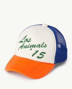 <img class='new_mark_img1' src='https://img.shop-pro.jp/img/new/icons47.gif' style='border:none;display:inline;margin:0px;padding:0px;width:auto;' />The Animals Observatory NYLON HAMSTER KIDS CAP  ORANGE/BLUE