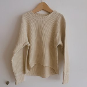 LAST ONE!!The New Society Waffle Sweater ECRU