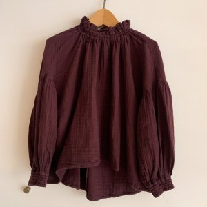 The New Society Olivia Blouse BURGANDY