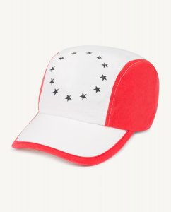 The Animals Observatory HAMSTER KIDS CAP RED/ WHITE