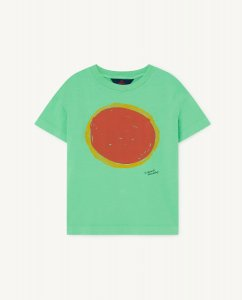 The Animals Observatory ROOSTER KIDS T-SHIRT GREEN SUN