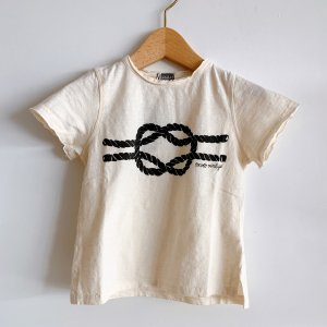 TOCOTO VINTAGE  Rope Knot T-shirt OFFWHITE