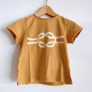TOCOTO VINTAGE  Rope Knot T-shirt MASTARD