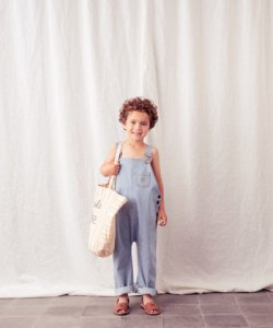 LAST ONE!!TOCOTO VINTAGE Striped Dungaree Jumpsuits