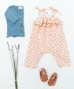 TOCOTO VINTAGE  Strawberry Jumpsuit BABY
