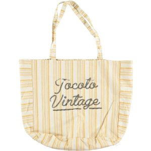 TOCOTO VINTAGE Stripe Bag MUSTARD