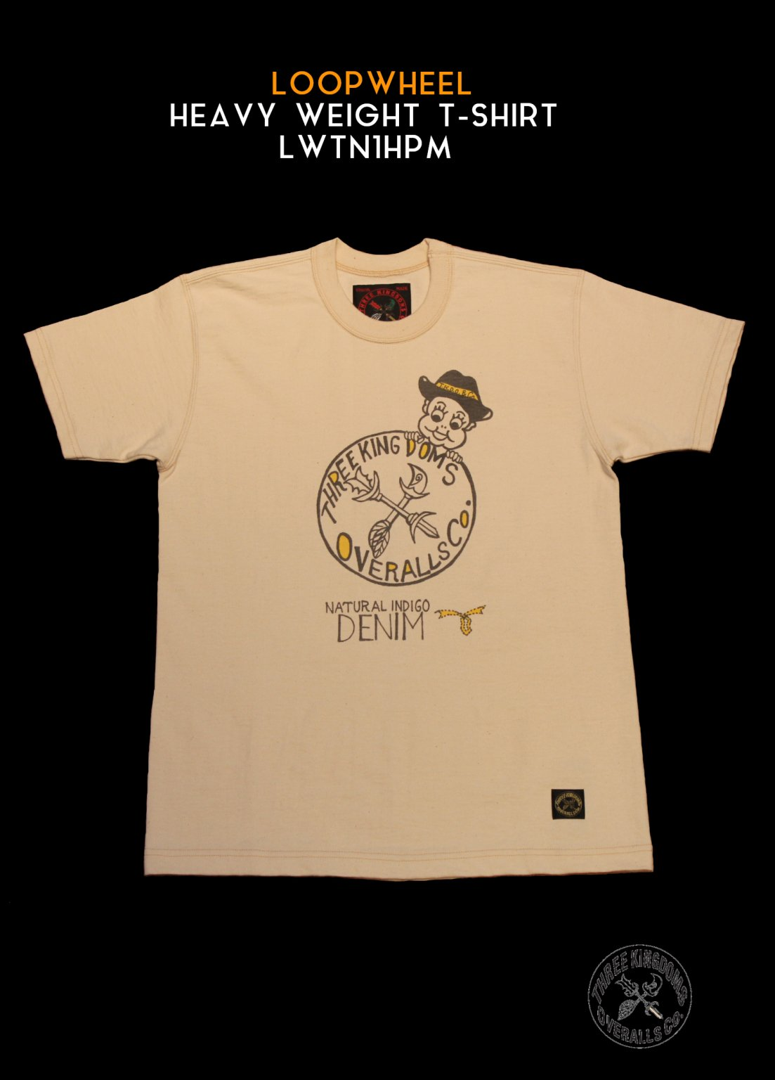 LWTN1HPM LOOPWHEEL HEAVY WEIGHT T-Shirt(Natural White)<img class='new_mark_img2' src='https://img.shop-pro.jp/img/new/icons14.gif' style='border:none;display:inline;margin:0px;padding:0px;width:auto;' />