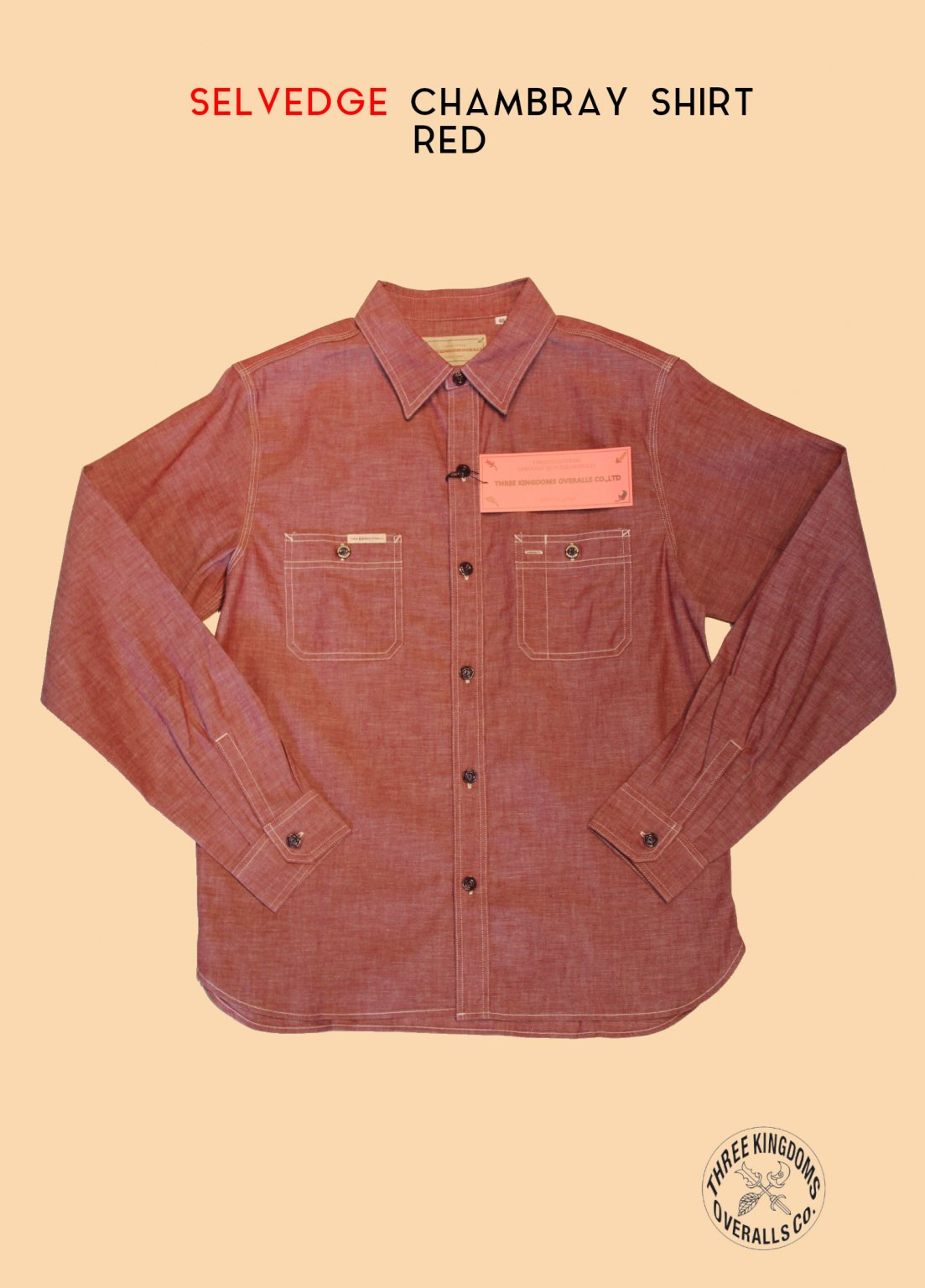 CB01Sr CHAMBRAY SHIRT (RED)<img class='new_mark_img2' src='https://img.shop-pro.jp/img/new/icons14.gif' style='border:none;display:inline;margin:0px;padding:0px;width:auto;' />