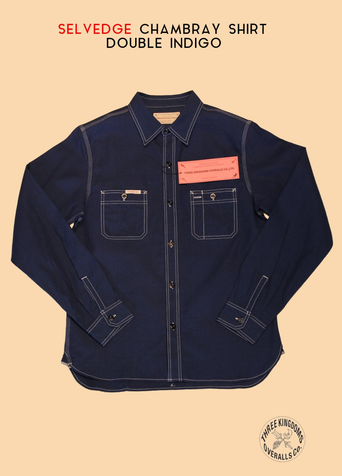 CB01Si CHAMBRAY SHIRT (DOUBLE INDIGO)<img class='new_mark_img2' src='https://img.shop-pro.jp/img/new/icons14.gif' style='border:none;display:inline;margin:0px;padding:0px;width:auto;' />