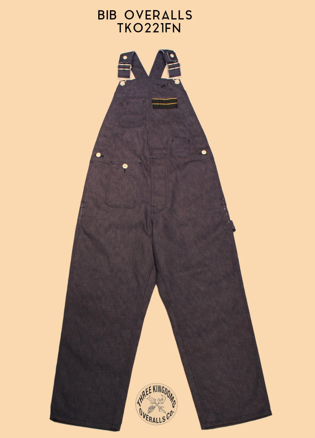 TKO221FN  BIB OVERALLS <img class='new_mark_img2' src='https://img.shop-pro.jp/img/new/icons14.gif' style='border:none;display:inline;margin:0px;padding:0px;width:auto;' />