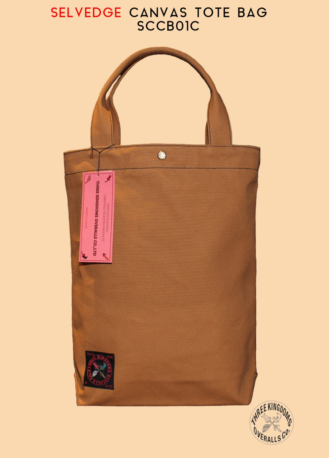 SCCB01C SELVEDGE COTTON CANVAS TOTE BAG