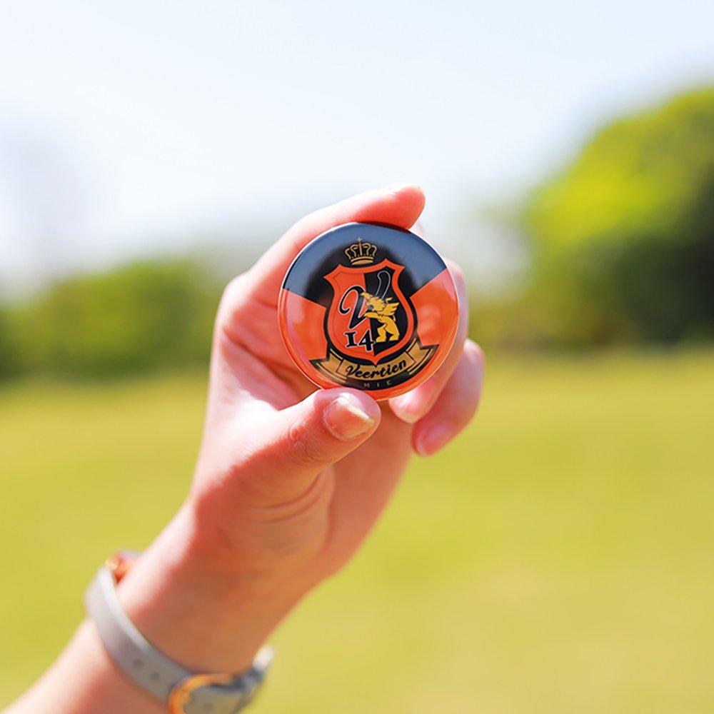 缶バッチ(エンブレム)オレンジ×黒