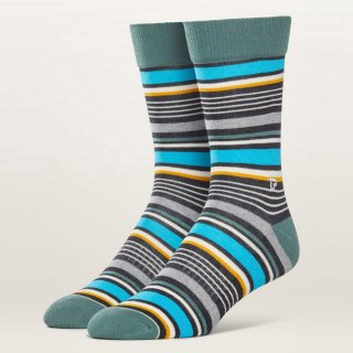 Men's University Stripe Premium Crew Sock
