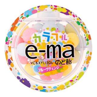 味覚糖 e−maのど飴容器 カラフルフルーツチェンジ 6入。