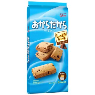 江崎グリコ おからだから チョコチップ 6入。