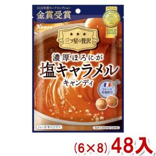 (本州一部送料無料) カンロ 濃厚ほろにが塩キャラメルキャンディ (6×8)48入 。