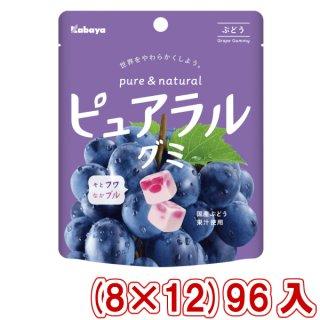 (本州一部送料無料) カバヤ ピュアラルグミ ぶどう (8×12)96入 (Y12)(ケース販売) 。