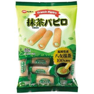 七尾製菓 80g フレンチ抹茶パピロ 20入 。