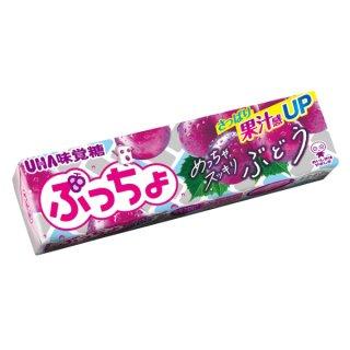 味覚糖 ぷっちょスティック ぶどう 10入。
