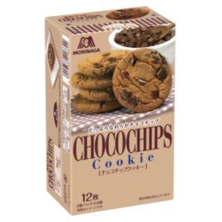森永 12枚 チョコチップクッキー 5入。