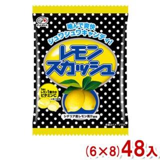 (本州一部送料無料) 不二家 80g レモンスカッシュ キャンディ 袋 (6×8)48入 (Y12)。