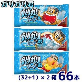 (本州一部冷凍送料無料)赤城乳業 ガリガリ君ソーダ (32+1)×2箱 66本入(冷凍)