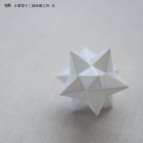 小星型十二面体紙工作