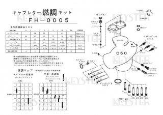 スーパーカブC50(縦キャブ)用キャブレター燃調キット