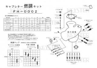 スーパーカブC105用キャブレター燃調キット(縦キャブ用)